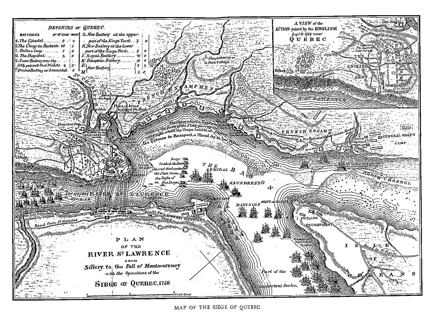 Map Of New England And Quebec.Fiske New France And New England Map 6 Siege Of Quebec